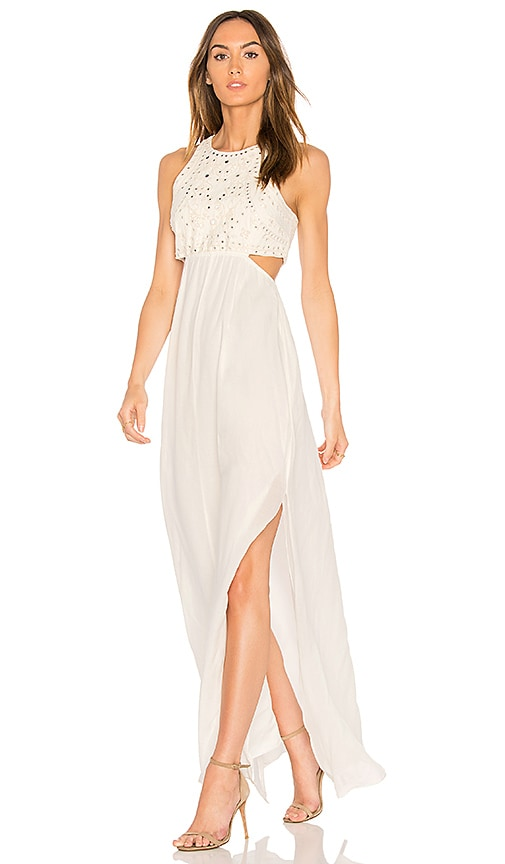 Ella Moss Valletta Cutout Maxi Dress in Ivory