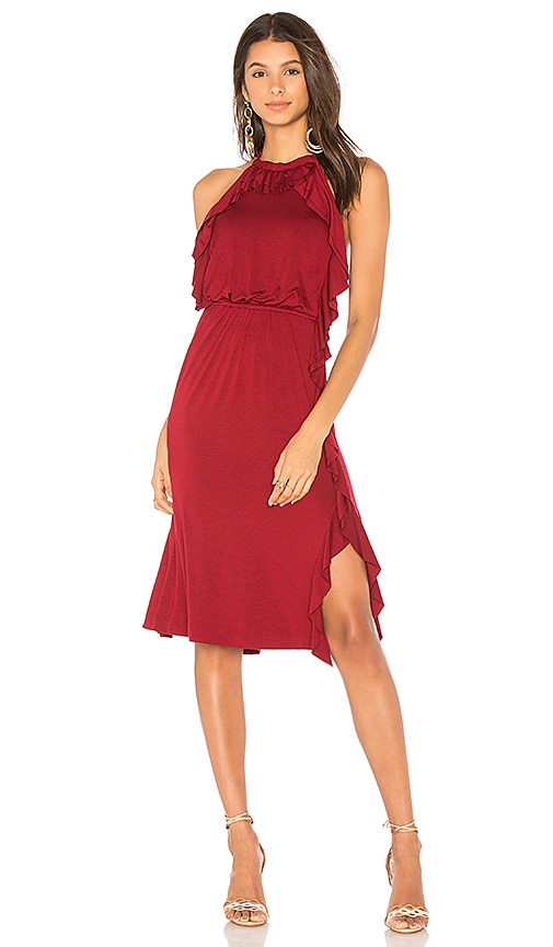 Ella Moss Halter Dress in Red