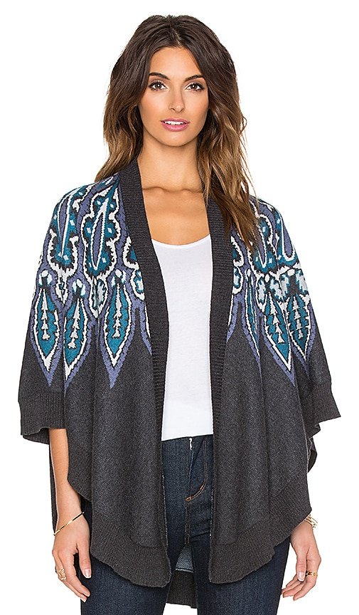 Ella Moss Caprice Cardigan in Charcoal & Multi