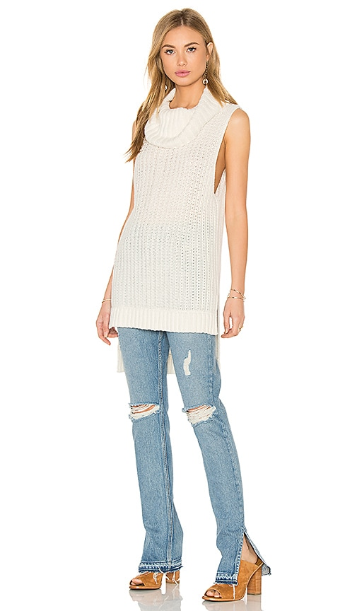 Ella Moss Kinley Sleeveless Sweater in Ivory