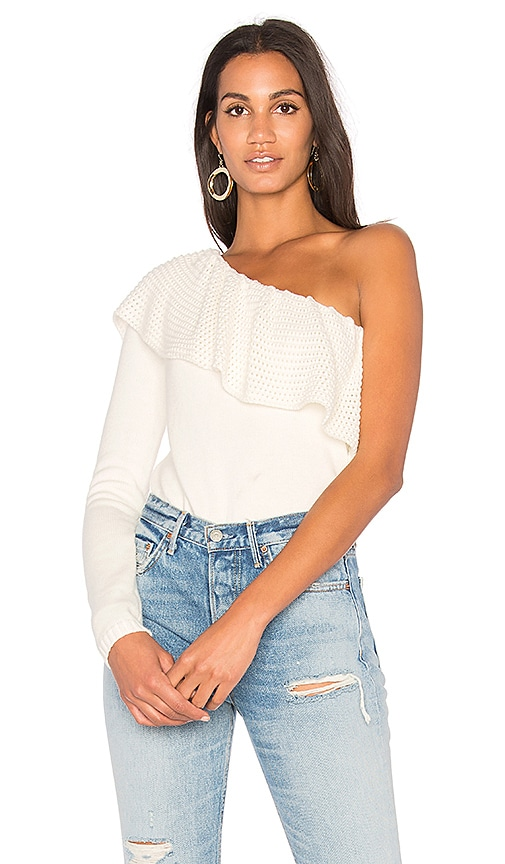 Ella Moss One Shoulder Top in White
