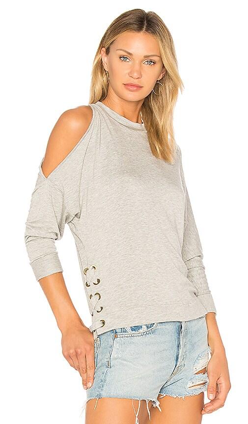 Ella Moss Cold Shoulder Sweatshirt in Gray