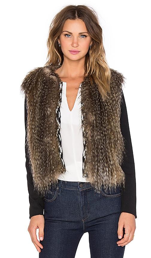 Ella Moss Maud Faux Fur Jacket in Oatmeal