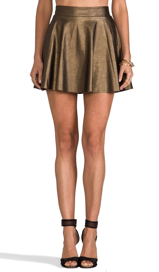 Sandra Faux Leather Skirt