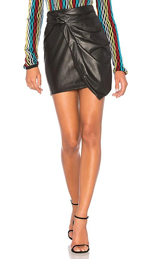 Ella Moss Faux Leather Mini Skirt in Black