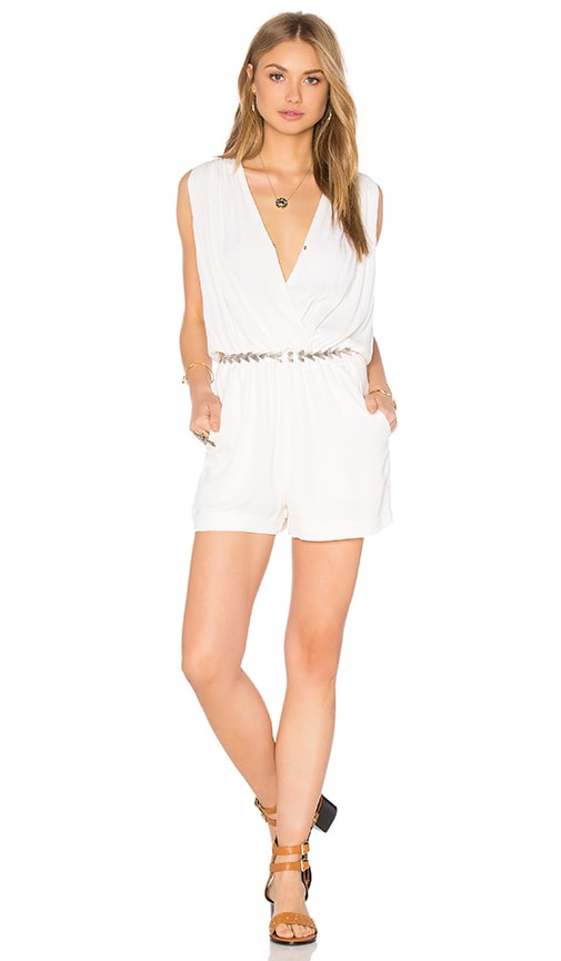 Ella Moss Katella Crossfront Romper in White