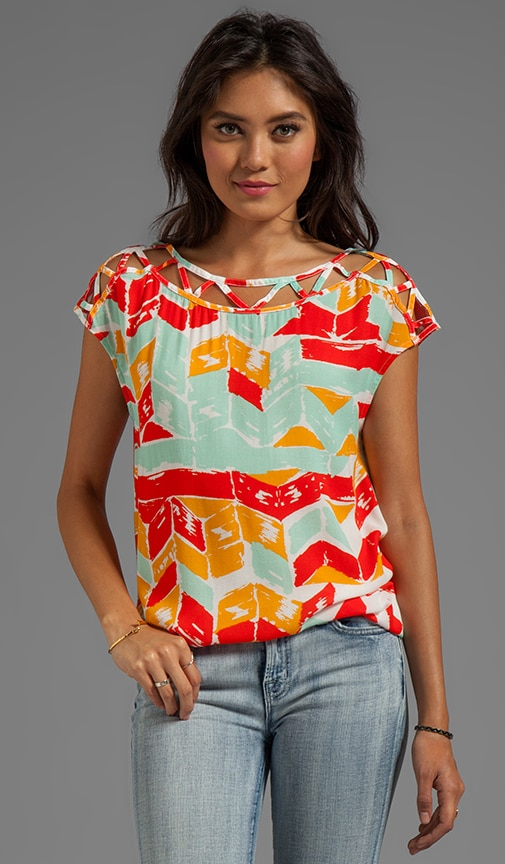 Totem Post Short Sleeve Top