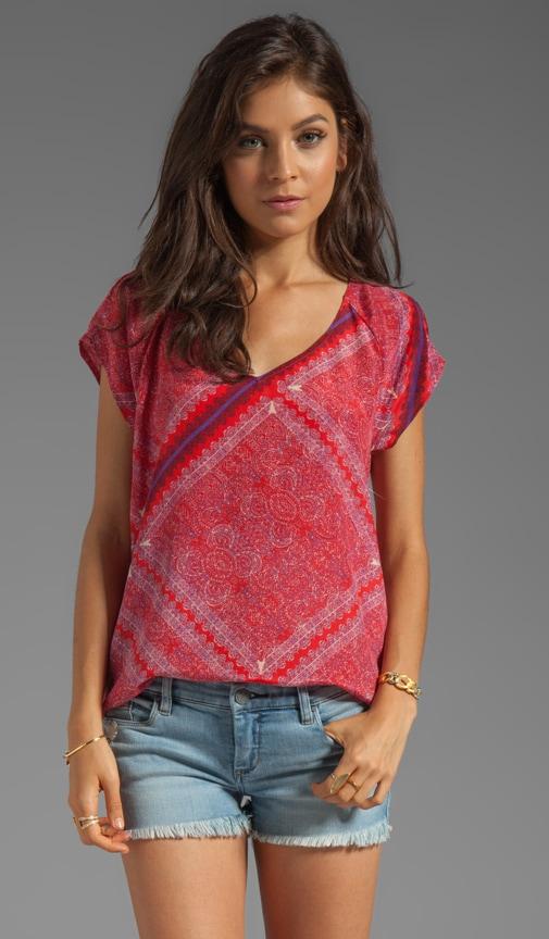 Tuscana Short Sleeve Silk Top
