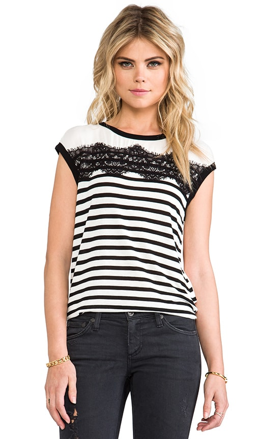 Cara Lace Striped Top