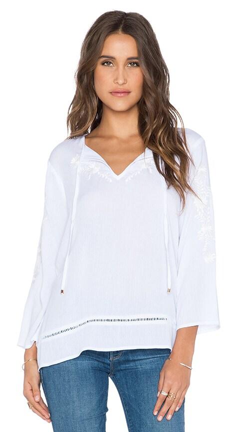 Ella Moss Rosie Top in White