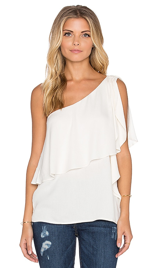 Ella Moss Stella One Shoulder Top in Natural