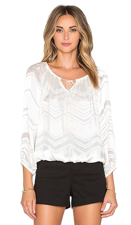 Ella Moss Vita Peasant Top in Natural