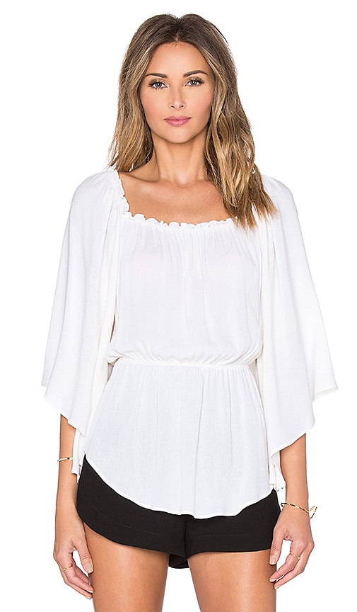 Ella Moss Katella Drape Top in Cream