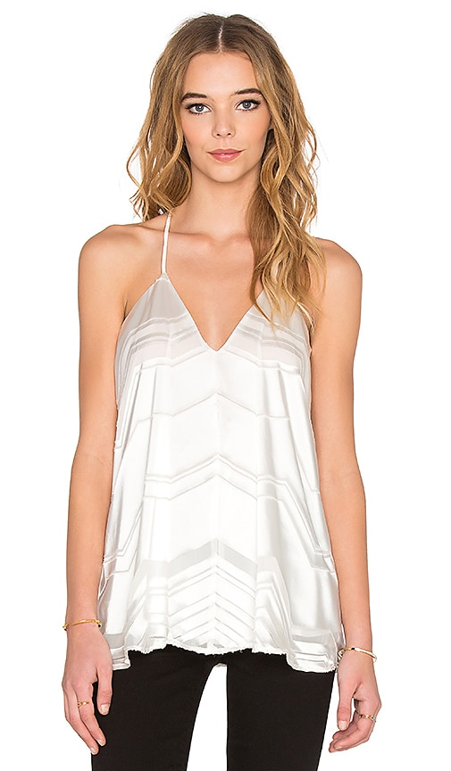 Ella Moss Vita V Neck Tank in Cream