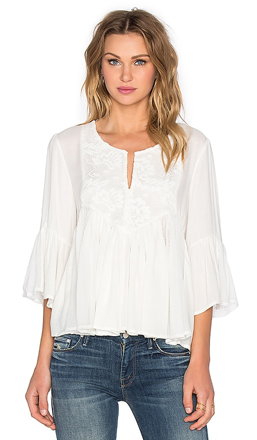 Ella Moss Desiree Blouse in Cream