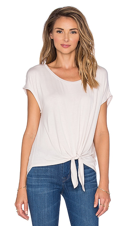 Ella Moss Aliza Knot Front Tee in Ivory