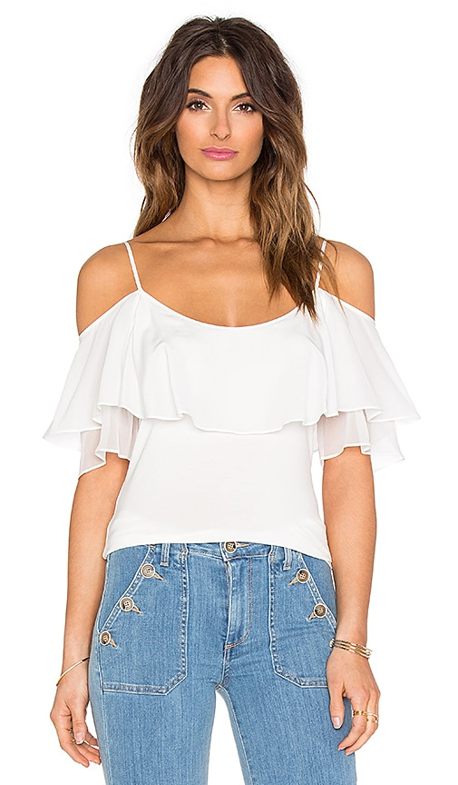 Ella Moss Bella Ruffle Top in Cream