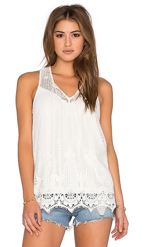 Ella Moss Thistle Tank in White