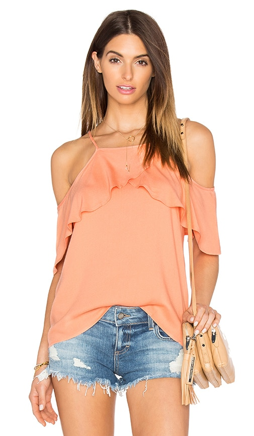 Ella Moss Stella Cold Shoulder Top in Peach