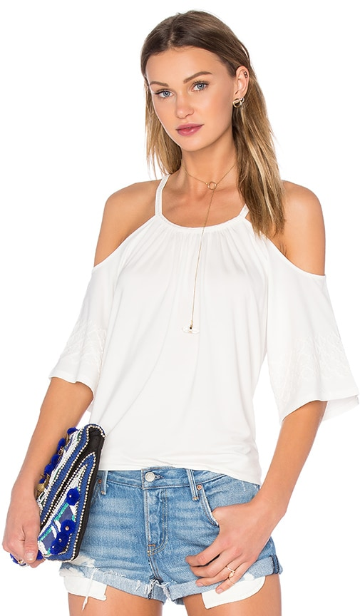 Ella Moss Bella Cold Shoulder Top in Ivory