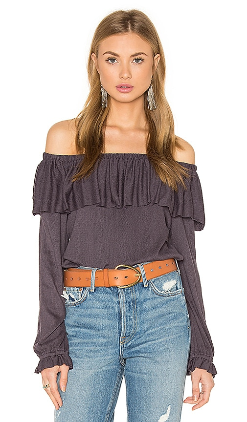 Ella Moss Gioannia Off Shoulder Top in Purple