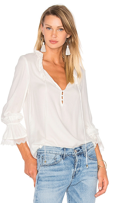 Ella Moss Stella Blouse in White