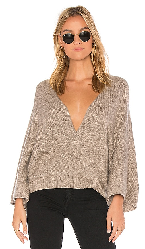 Ella Moss Open Back Pullover in Taupe
