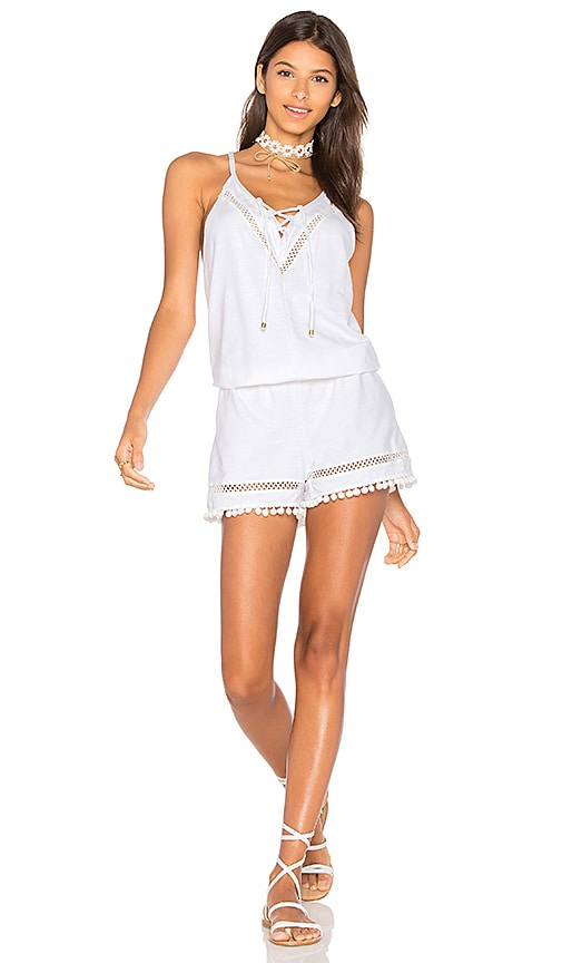 Ella Moss Juliet Romper in White