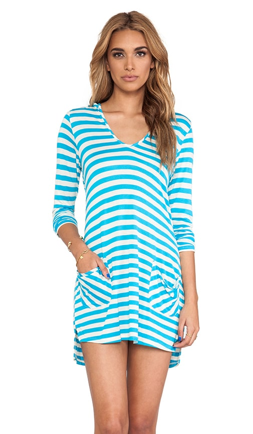 Cabana Stripe Hooded Cover Up