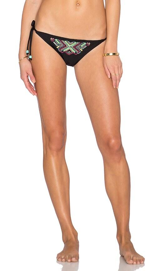 Ella Moss Tie Side Bikini Bottom in Black