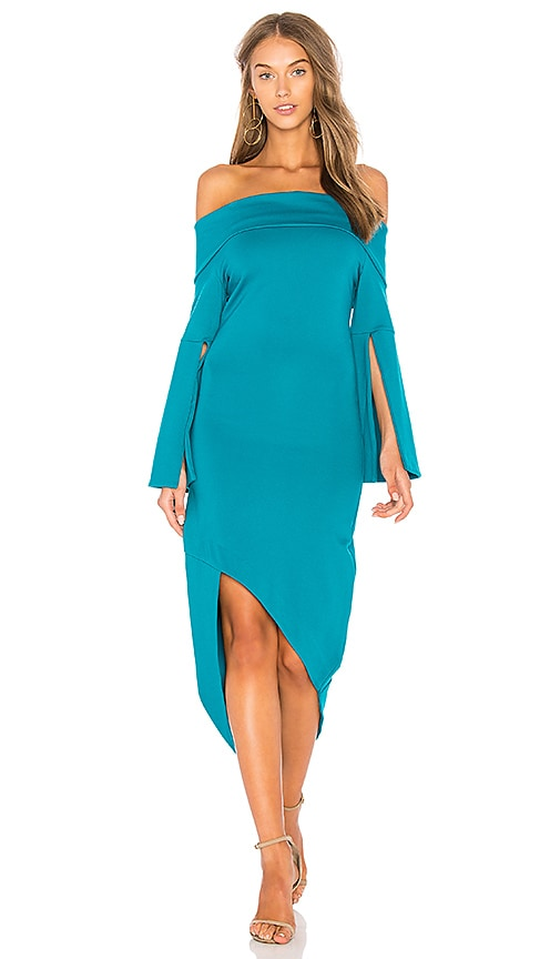 ELLIATT Spark Off Shoulder Dress in Teal