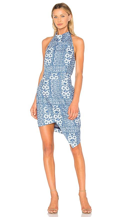ELLIATT Tone Halter Dress in Blue