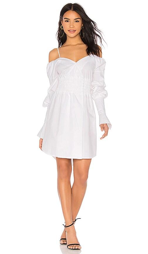 ELLIATT Moonlight Shirt Dress in White