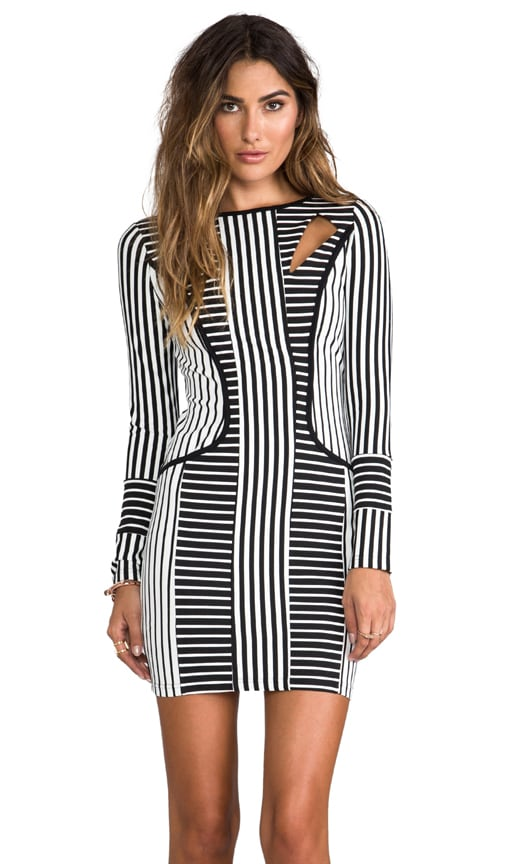 Stripe Illusions Dress