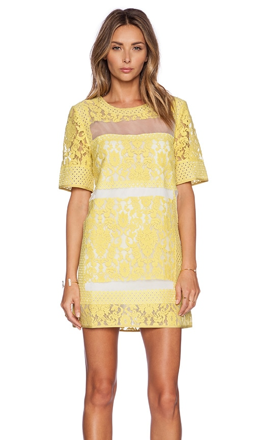 ELLIATT Eccentric Lace Dress in Yellow