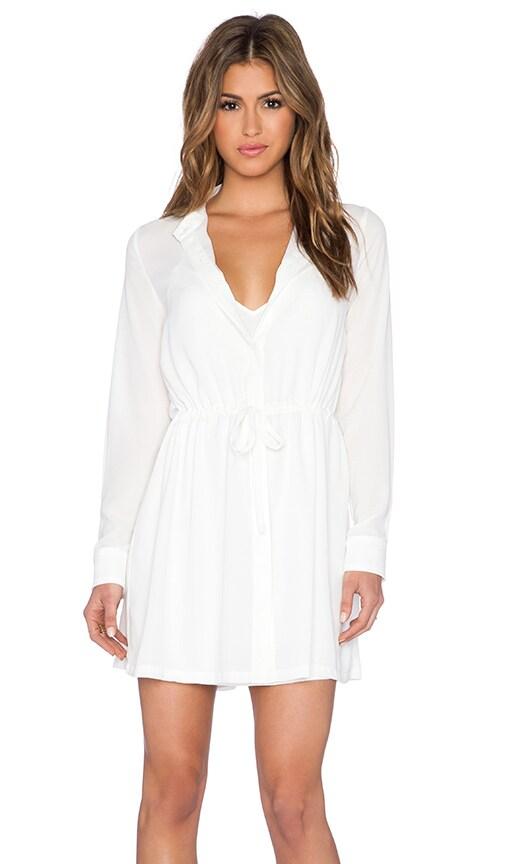 ELLIATT Sunrise Shirt Dress in White