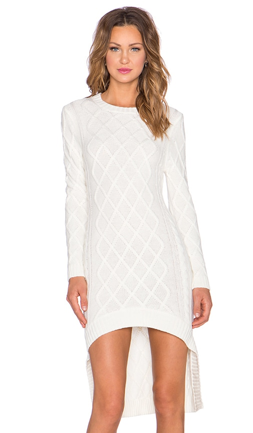 ELLIATT Realm Knit Dress in White