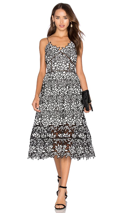 ELLIATT Paradise Dress in Black & White