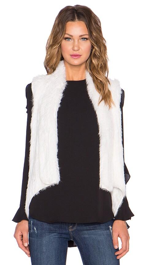 ELLIATT Viewing Rabbit Fur Vest in White