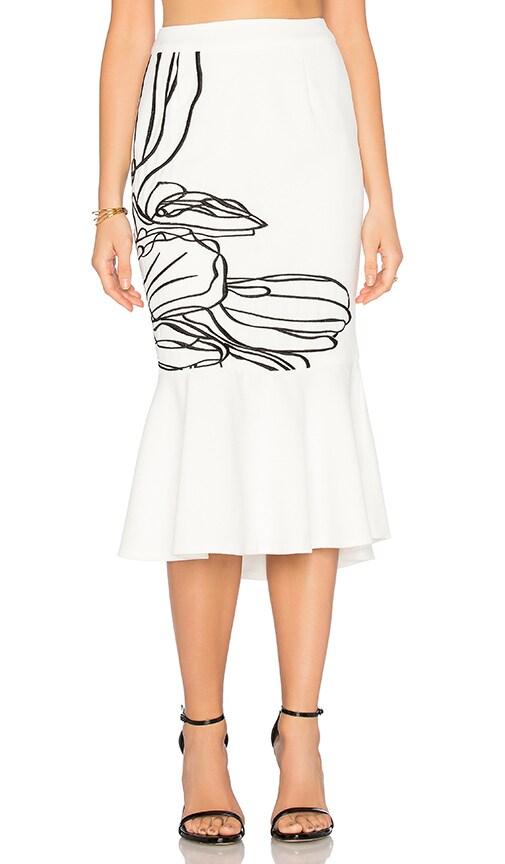 ELLIATT Abstract Skirt in Ivory