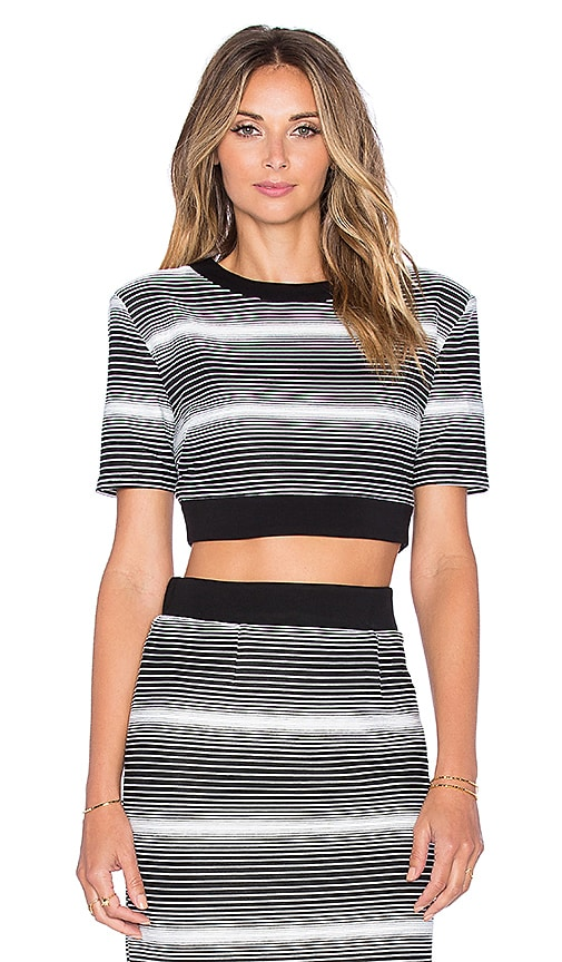 ELLIATT Expression Top in Monochrome Stripe