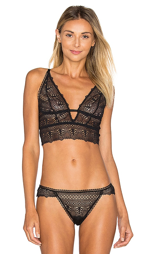 a249da324a else Ivy Deep Decollete Longline Soft Cup Bra in Black