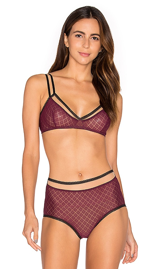 else Hidden Layer Triangle Soft Cup Bra in Burgundy