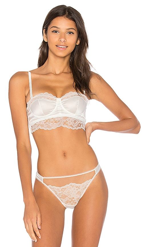 else Yasmine Strapless Underwire Corsette Bra in Ivory