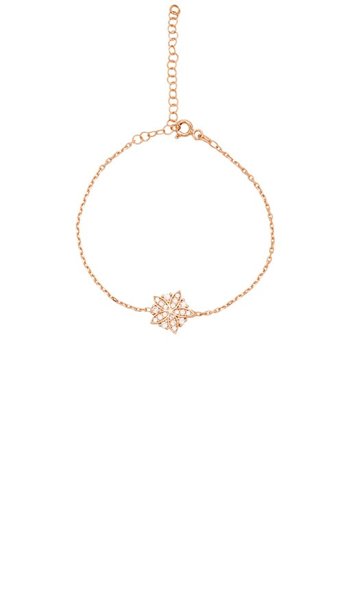 Ettika Luxe Flower Bracelet in Metallic Copper