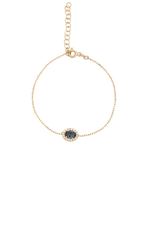 Ettika Luxe Gem Stone Bracelet in Metallic Gold