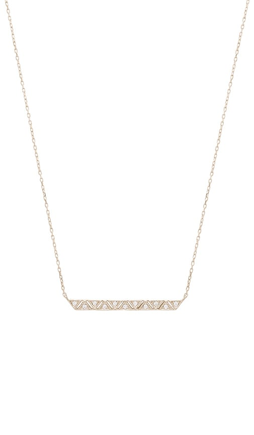 Ettika Luxe Geometric Bar Necklace in Silver