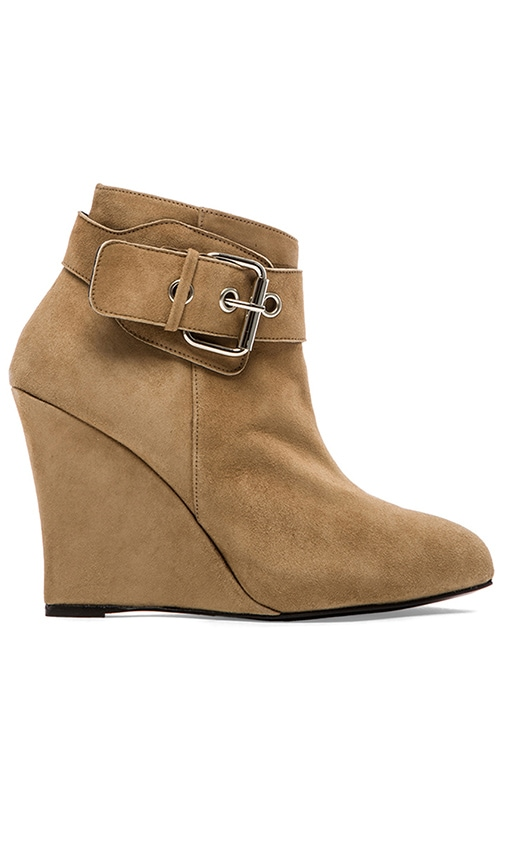 Buckle Wedge Platform Bootie