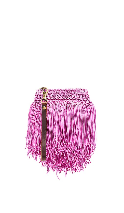 Elliot Mann Thunder Beaded Clutch in Purple