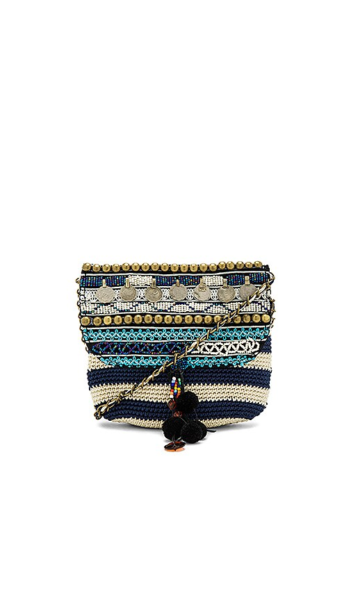 Elliot Mann Jane Striped Crossbody Bag in Navy